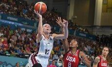 Šteinberga iemet 30 punktus amerikānietēm, Latvijai atvadoties no Pasaules kausa finālturnīra