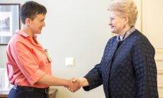 Savčenko: cerams, ka Lietuvai vairs nekad sava brīvība nebūs jāaizstāv ar ieročiem