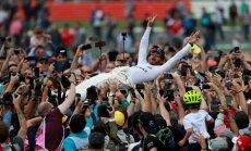 Hamiltons piekto reizi karjerā triumfē F-1 Lielbritānijas 'Grand Prix' izcīņā