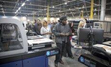 Foto: Darbu sāk 'Draugiem Group' uzņēmuma 'Printful' otrā ražotne ASV