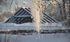 Foto: Ziemas pasaka Salaspils botāniskajā dārzā