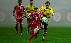'Bayern' pēc uzvaras pār Dortmundes 'Borussia' nostiprinās bundeslīgas galvgalī