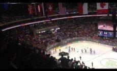 Video: Puse Krievijas komandas pamet ledu Kanādas izlases apbalvošanas laikā; federācijai draud sods