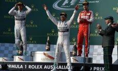 Hamiltons uzvar Austrālijas 'Grand Prix'; finišu sasniedz tikai 11 mašīnas