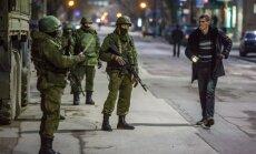 Foto: Bruņoti kaujinieki Krimā