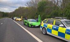 Foto: Policija Lielbritānijā konfiscējusi trīs superauto par 'antisociālu uzvedību'