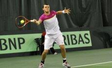 Latvijas tenisa izlase ar divām uzvarām sāk Deivisa kausa izcīņas dueli pret Monako