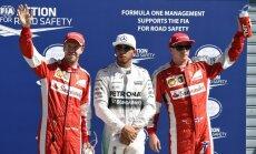 Hamiltons pārliecinoši uzvar Itālijas 'Grand Prix' kvalifikācijā