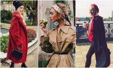 Piecas modīgas latviešu slavenības, no kurām nošpikot rudens stilu
