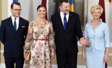 Foto: Latvijā viesojas Zviedrijas kroņprincese Viktorija