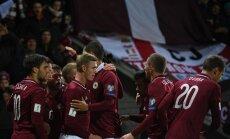 Latvijas futbola izlase FIFA rangā pakāpjas par vienu pozīciju