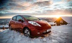 Elektromobiļu skaits Norvēģijā sasniedzis 100 000