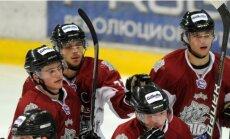 'Rīgas' hokejisti pēc teicamā snieguma otrajā trešdaļā uzvar spēcīgo 'Loko' komandu