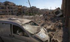 Sīrijas un Krievijas lidmašīnas veic uzlidojumus nemierniekiem Alepo