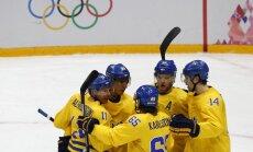 Zviedrija pēdējā trešdaļā salauž slovēņu pretestību un iekļūst pusfinālā