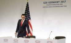 G20 finanšu ministri nespēj gūt ASV apliecinājumu cīņai pret klimata pārmaiņām
