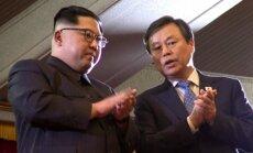 Foto: Ziemeļkorejas līderis apmeklē Dienvidkorejas popzvaigžņu koncertu Phenjanā