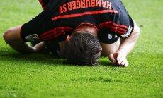 HSV bez Rudņeva pārliecinoši piekāpjas 'Hertha' futbolistiem
