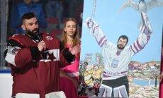Foto: Masaļskis sirsnīgā atvadu ceremonijā saka ardievas Latvijas izlasei