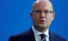 Čehijas premjers Sobotka paziņo par atkāpšanos no amata
