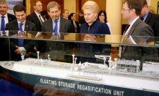 Lietuvas ministrs norāda uz Krievijas aktivitāšu saistību ar jaunā gāzes termināļa atklāšanu