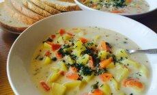 Laša un dārzeņu siera zupa
