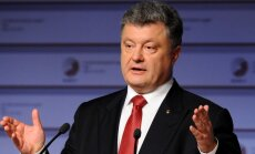 Porošenko: Ukraina plaši atvērusi durvis uz Eiropu
