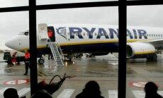 'Ryanair' piektdien atcēlis reisus no Rīgas uz Briseli, Berlīni un Brēmeni