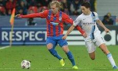 Frantisek Rajtoral Viktoria Plzen vs Manchester City Samir Nasri