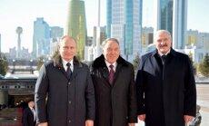 Foto: Putins, Lukašenko un Nazarbajevs Astanā spriež par Eirāzijas Ekonomisko savienību