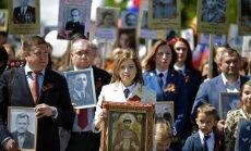 Krimas prokurore 'Nemirstīgo pulkā' dodas ar boļševiku nošautā Nikolaja II ikonu