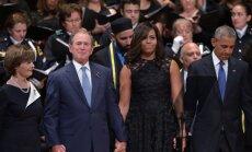ВИДЕО: Джордж Буш приплясывал на панихиде в Далласе