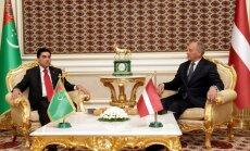 Latvijas un Turkmenistānas prezidenti vienojas stiprināt tranzītu (+FOTO)