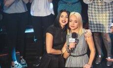 Foto: Satikušās divas skaistākās latviešu dziedātājas