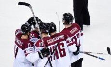 Vācijas izlases vārtsargs Grūbauers: Latvijas hokejisti izies laukumā kā sikspārņi no elles