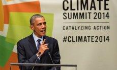 Obama aicina pasaules līderus uz sadarbību cīņā pret klimata izmaiņu radītajiem draudiem