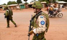 Latvijas karavīri Centrālāfrikas Republikā tiešos uzdevumus vēl nepilda