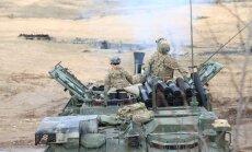 ASV armijas kolonna dosies cauri Igaunijai uz Vāciju