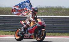 Markess sesto reizi pēc kārtas triumfē 'MotoGP' ASV posmā