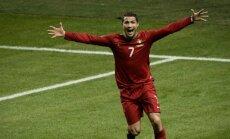 Ronaldu kļuvis par rezultatīvāko futbolistu Eiropas izlašu turnīru vēsturē