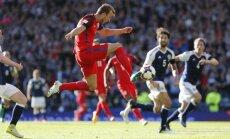 England Harry Kane scores to Scotland