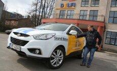 'Delfi' un 'Skandi Motors' ceļu reportiera auto no Jelgavas dodas uz Latgali
