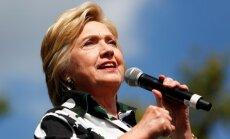 Aptauja: Klintone Trampu apsteidz par septiņiem procentpunktiem