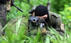 Karavīri atsituši separātistu uzbrukumu tanku bāzei Artemivskā