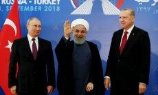 Idlibas likteņa lemšana: Erdogans vēlas pamieru, Putins un Ruhani ne