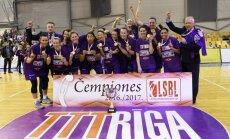 'TTT Rīga' basketbolistes piekto gadu pēc kārtas izcīna Latvijas čempiontitulu
