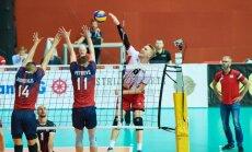 Latvijas volejbola izlase Kēla debijā ar uzvaru atgriežas Eiropas līgā