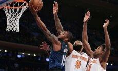 Bez Porziņģa spēlējošā 'Knicks' mačā pret 'Grizzlies' otrajā puslaikā gūst tikai 28 punktus