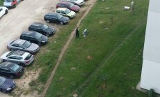 А где вы видите газон? Жители Плявниеков возмущены штрафом полиции