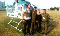 Ugunīgā Dienvidamerika: latviešu ceļotāji Kolumbijā lido ar slepkavību izmeklētāju helikopteru
